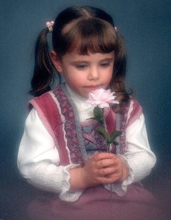 A picture of me as a little girl.