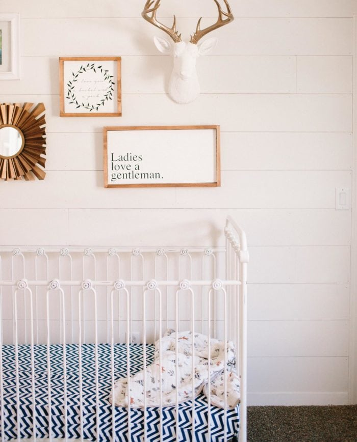 A photo of an empty crib.
