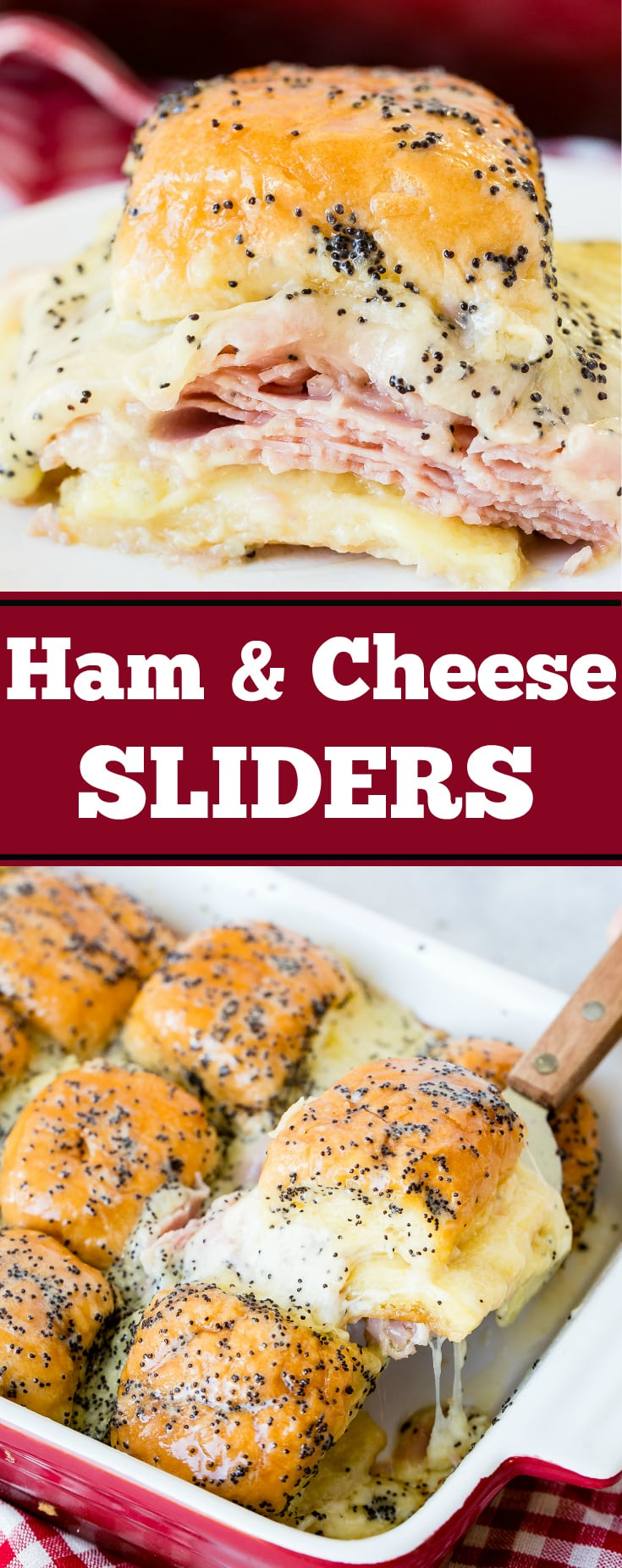 We don't know anyone who doesn't love ham and cheese sliders with poppy seed dressing. This recipe is perfect for leftover ham!