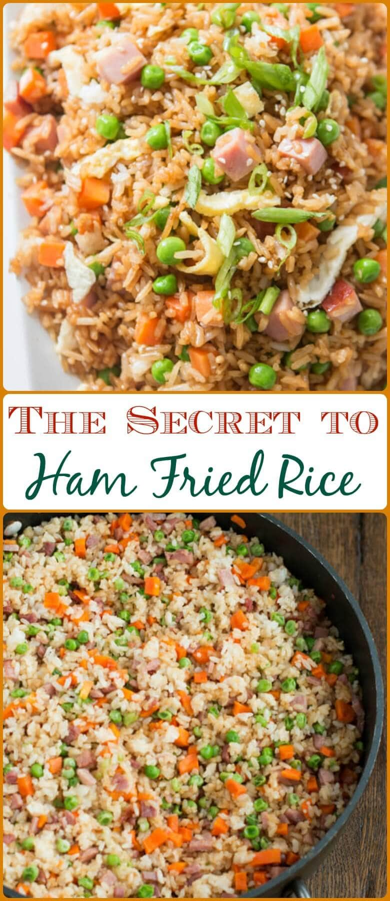 You don't have to even leave your kitchen to have restaurant worthy Chinese food. This is the secret to ham fried rice faux takeout style. ohsweetbasil.com