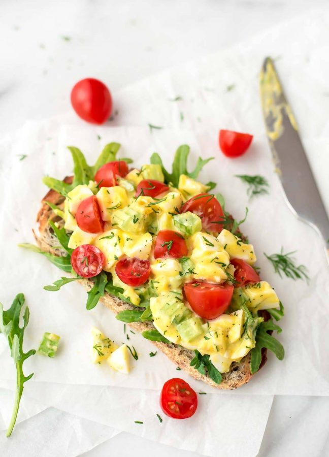 This egg salad has an extra burst of flavor from the dill. It's creamy and delicious. Perfect for lunches and it's the best egg salad sandwich!