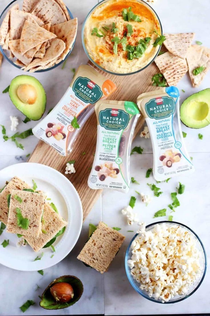 5 Minute Garlic Hummus and Mini Green Goddess Sandwiches