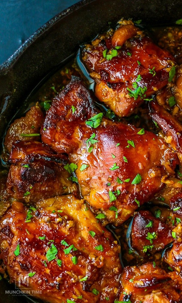 Honey Soy Chicken - is one of the easiest and delicious boneless chicken thighs recipes you will ever make!  Tender chicken thighs baked in yummy  honey sauce will steal the show and wow your family and guests!