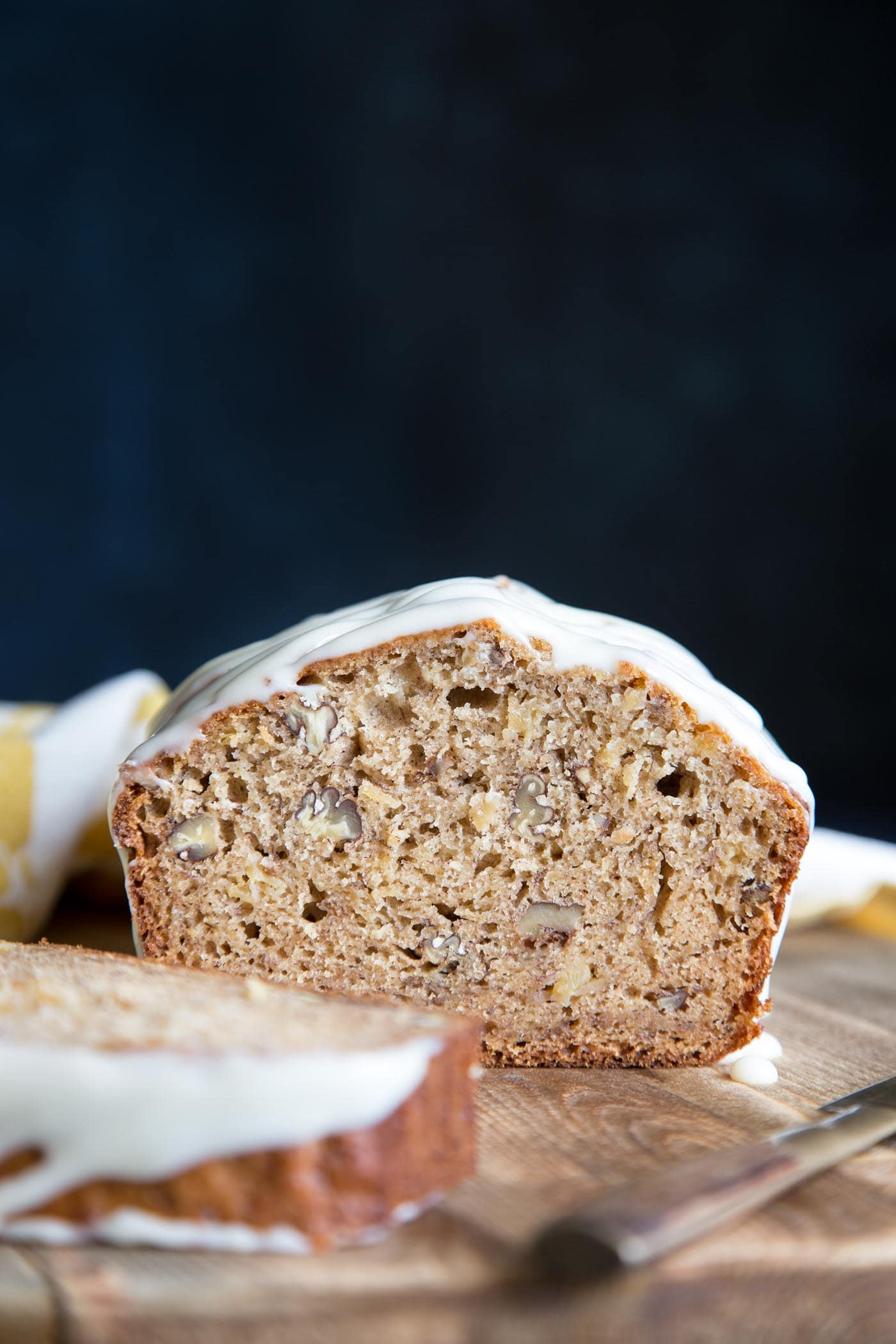 Cross section of hummingbird cake banana bread