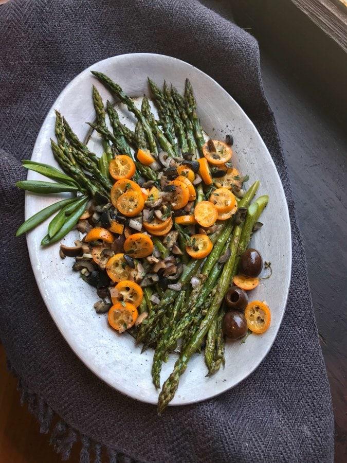 asparagus and kumquats