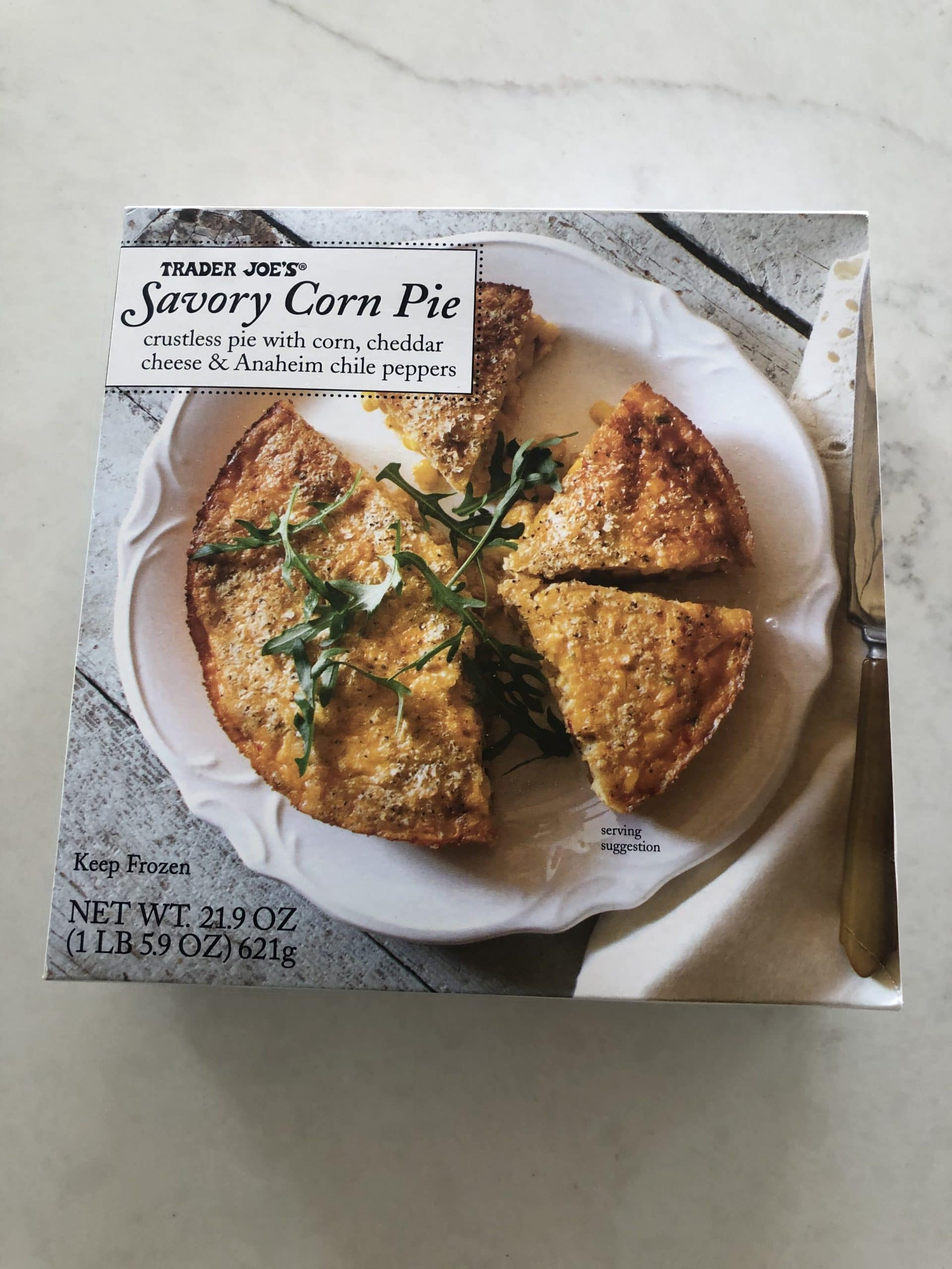 Savory Corn Pie from Trader Joes