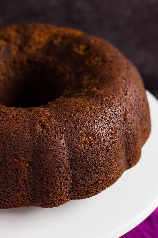 Gingerbread Bundt Cake with Maple Glaze