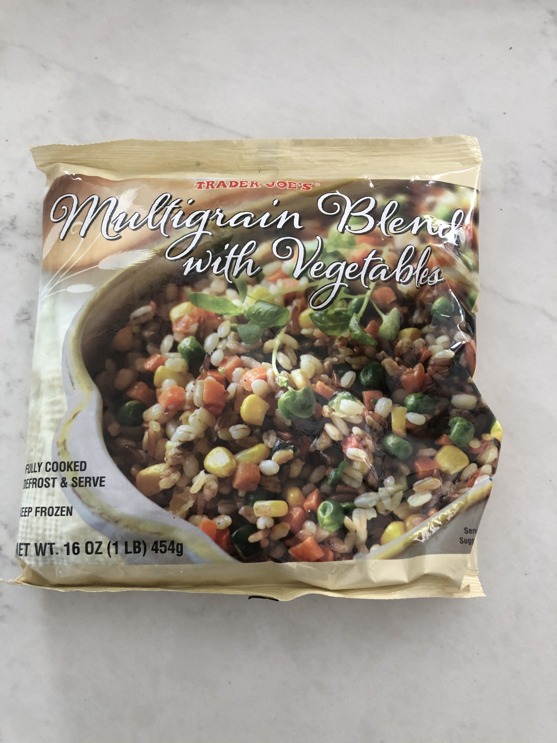 frozen multigrain blend with vegetables from trader joes