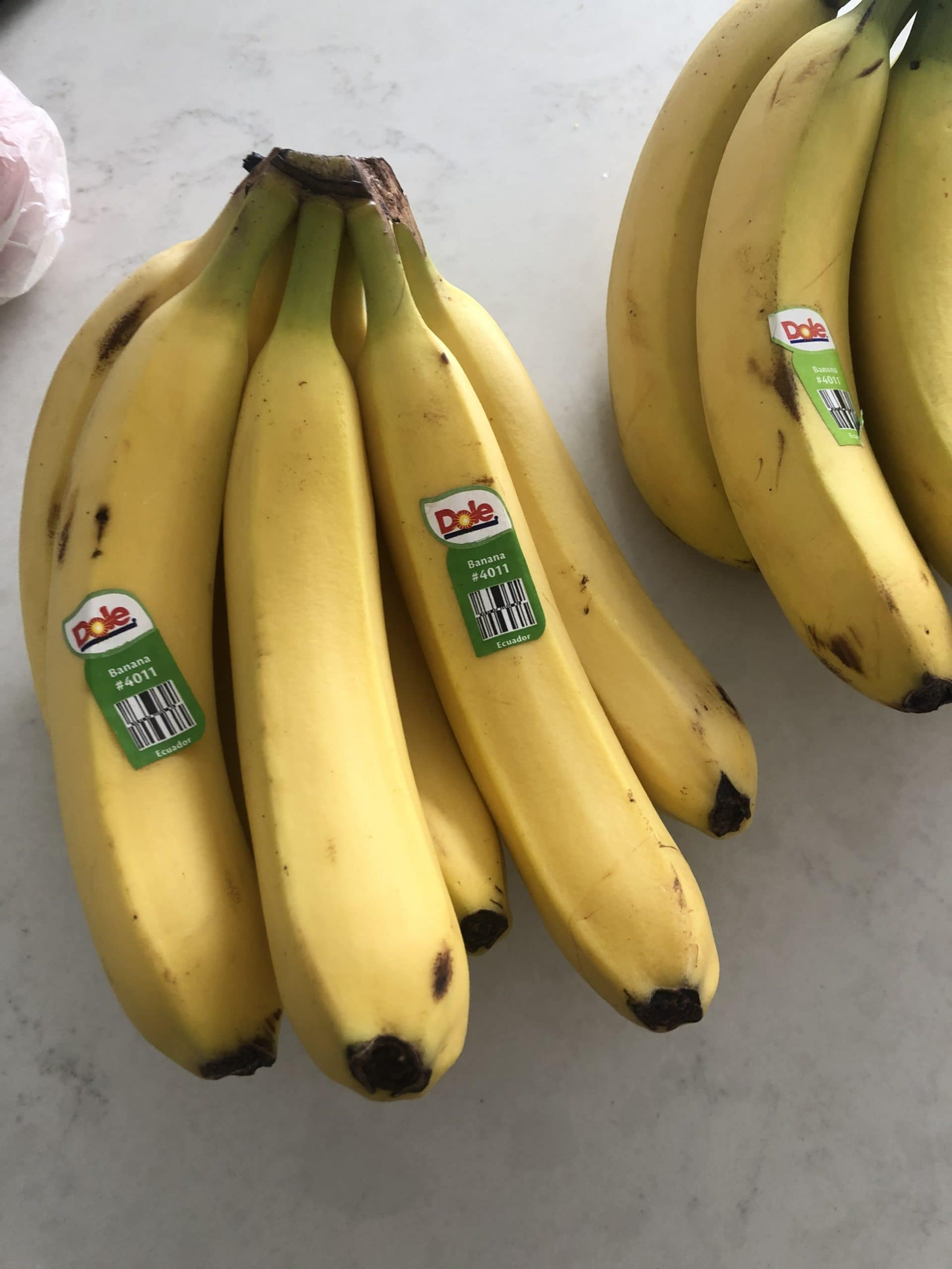 a bunch of bananas on the counter