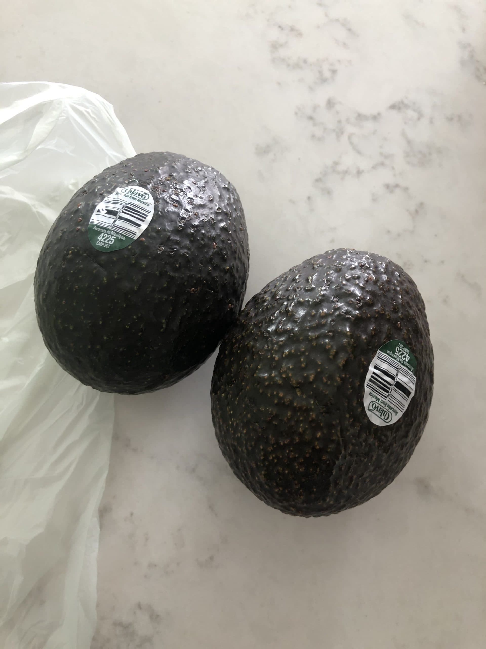 two small avocados