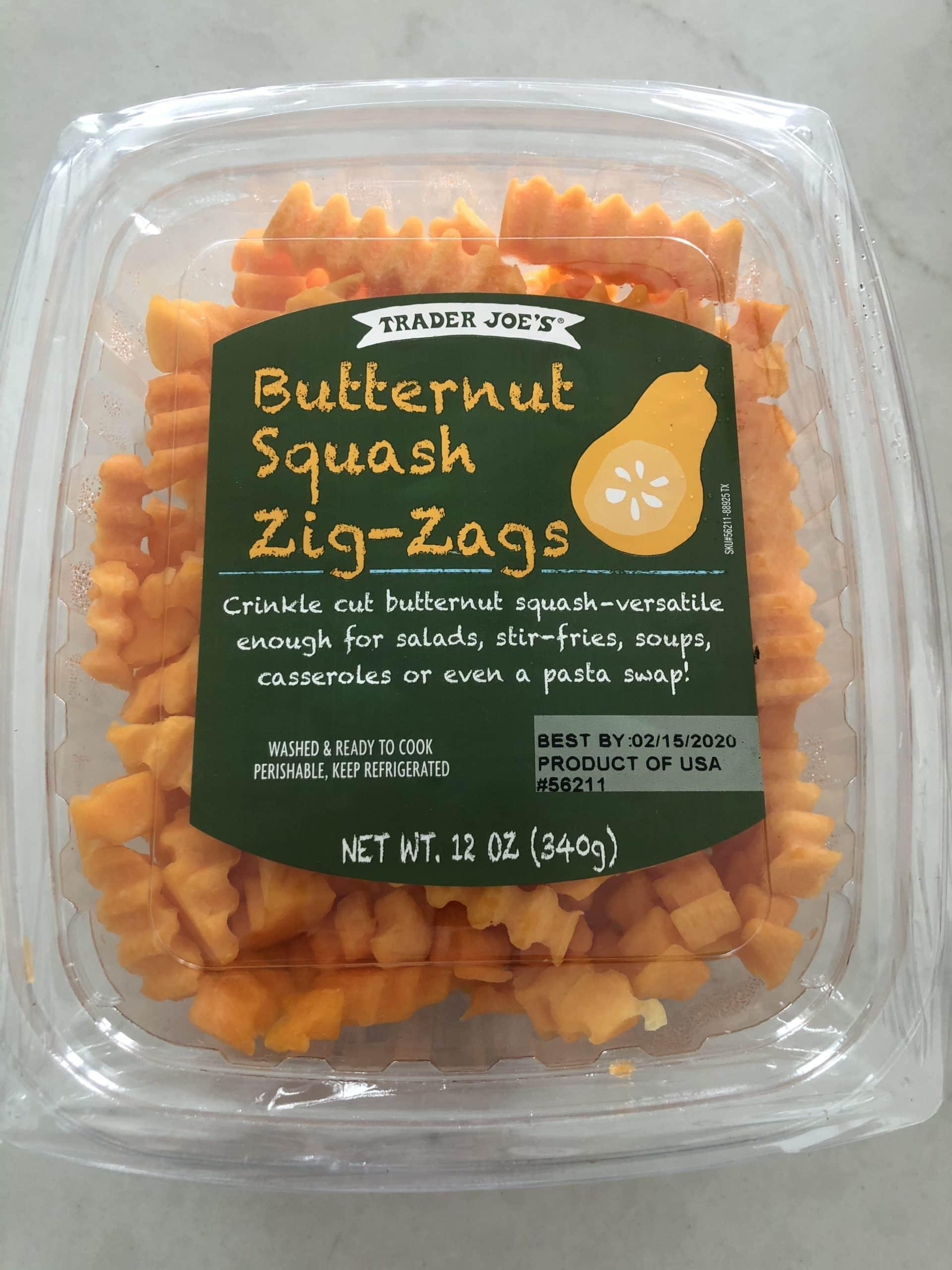 trader joes zig zag shaped butternut squash