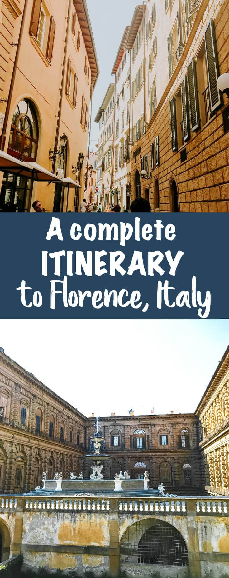 Make sure you save this post and you wont have to stress about a trip to Italy. A Complete Itinerary to Florence, Italy with food, tips and activities.