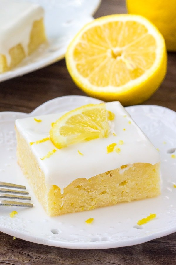 Lemon brownies are insanely delicious fudgy lemon bars with a sweet lemon cream cheese glaze.