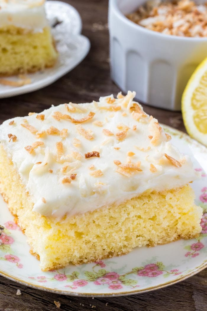 Lemon Cake with Coconut Frosting