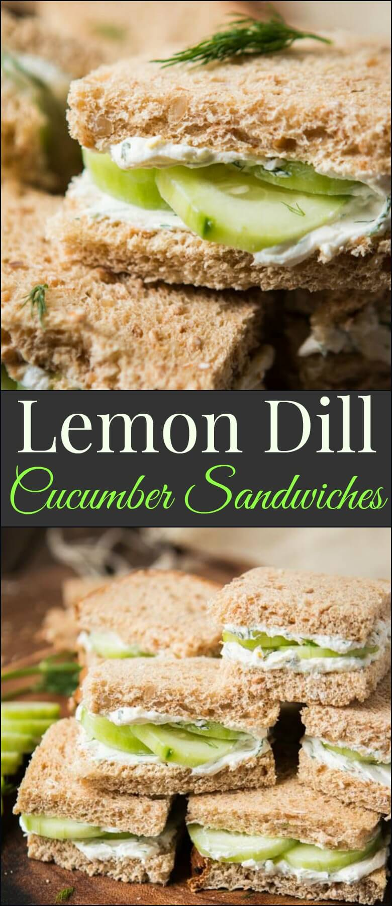 The best lemon dill cucumber sandwiches I've ever had added a touch of Greek yogurt to the spread. Try this awesome tea sandwich recipe at your next party with eureka!® Organic Bread!