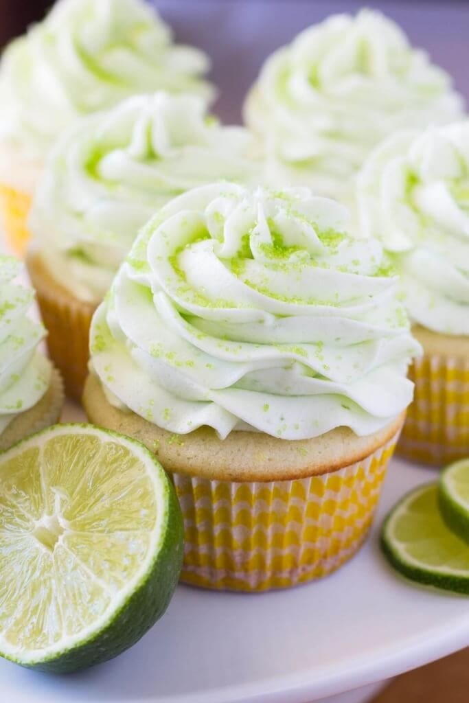 Lemon Lime Cupcakes have a fresh citrus flavor & soft cupcake crumb, then they're topped with creamy lime buttercream.