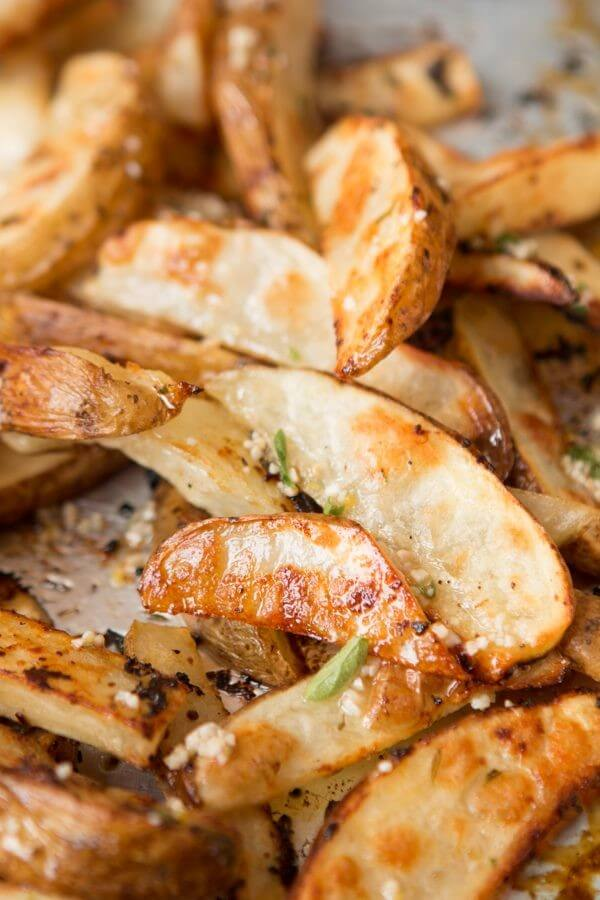 Lemon Roasted Potatoes ohsweetbasil.com