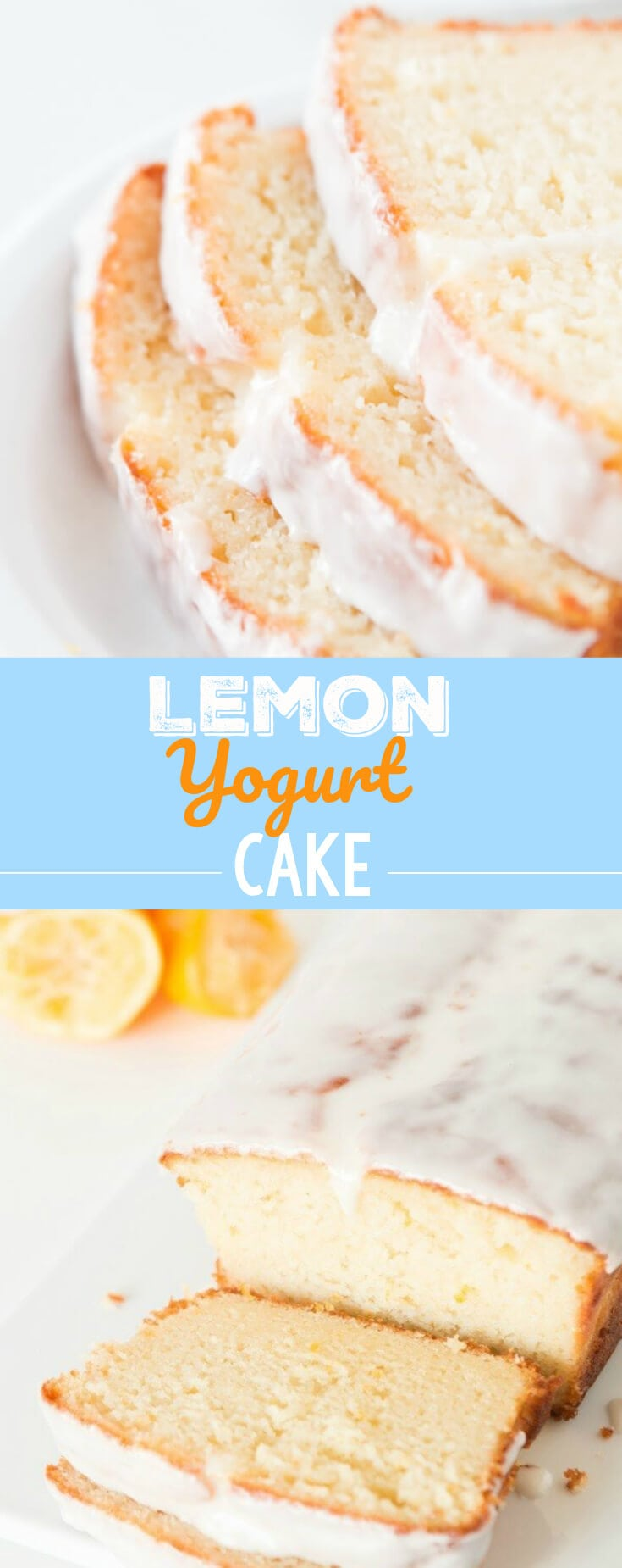 This Lemon Yogurt Cake is to die for! It has a super simple lemon syrup and delicious glaze. You'll want to eat the whole loaf!