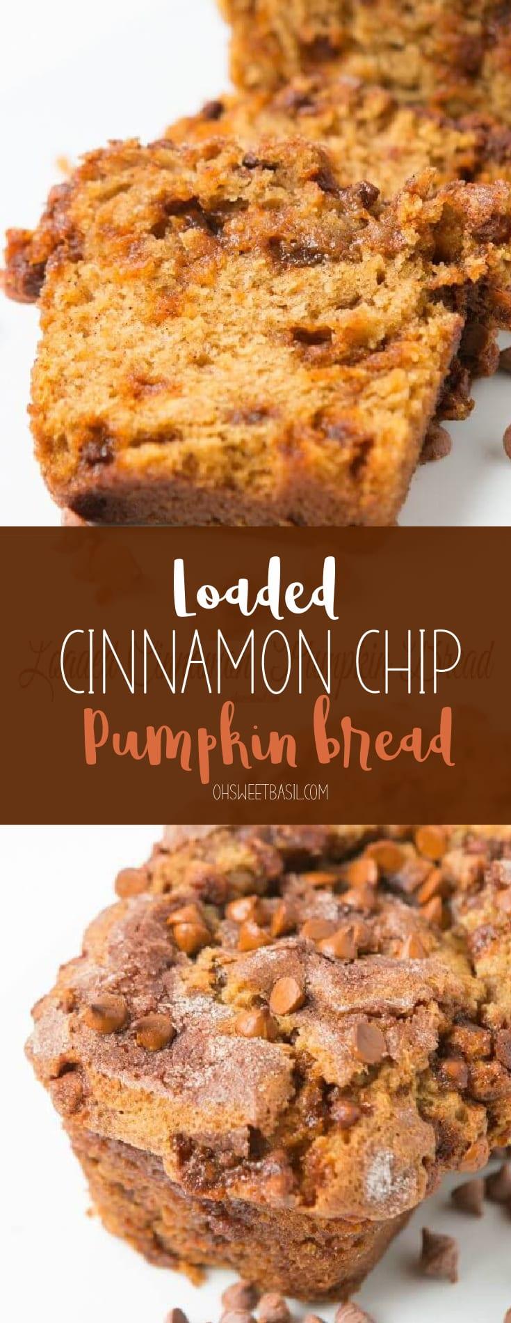 A loaf of cinnamon pumpkin bread