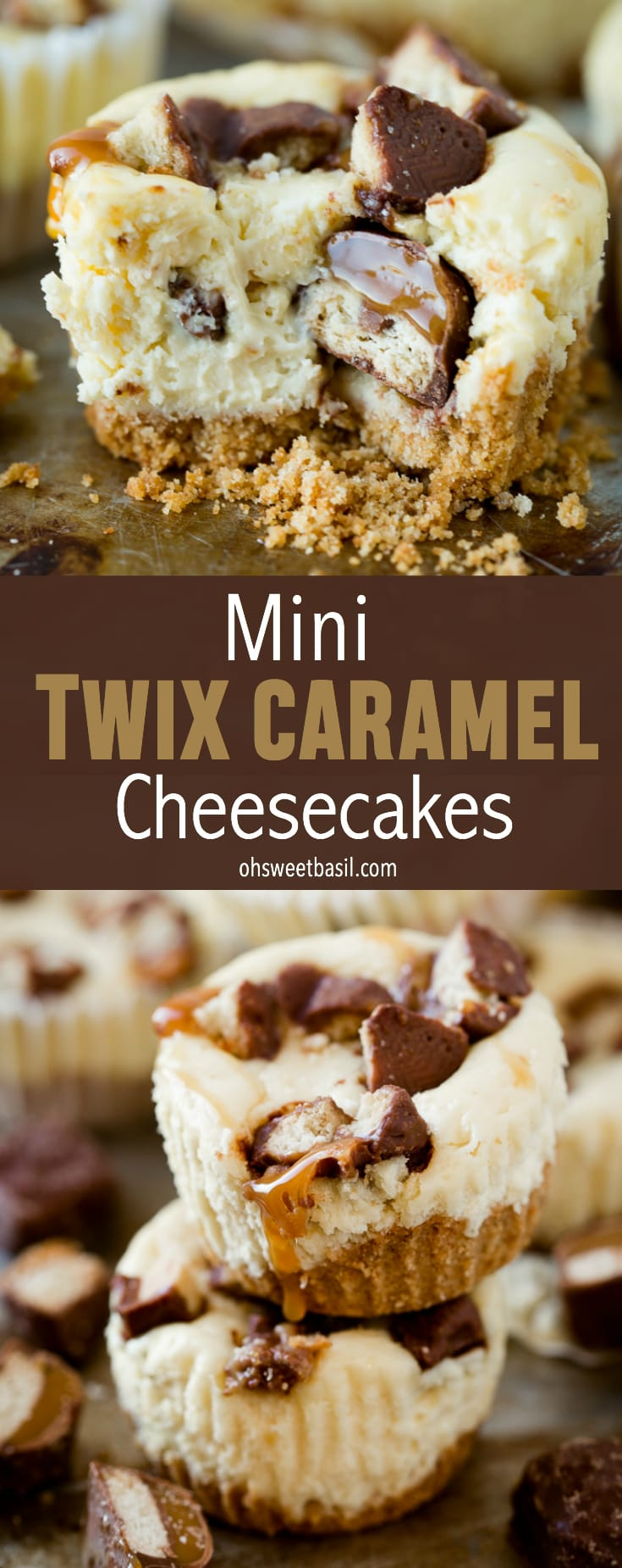 Mini Twix Caramel Cheesecakes