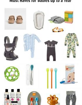 Must Haves for Baby up to 12 months ohsweetbasil.com
