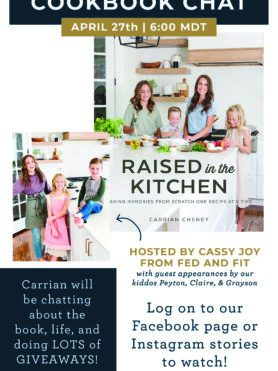 raised in the kitchen cook book giveaway graphic
