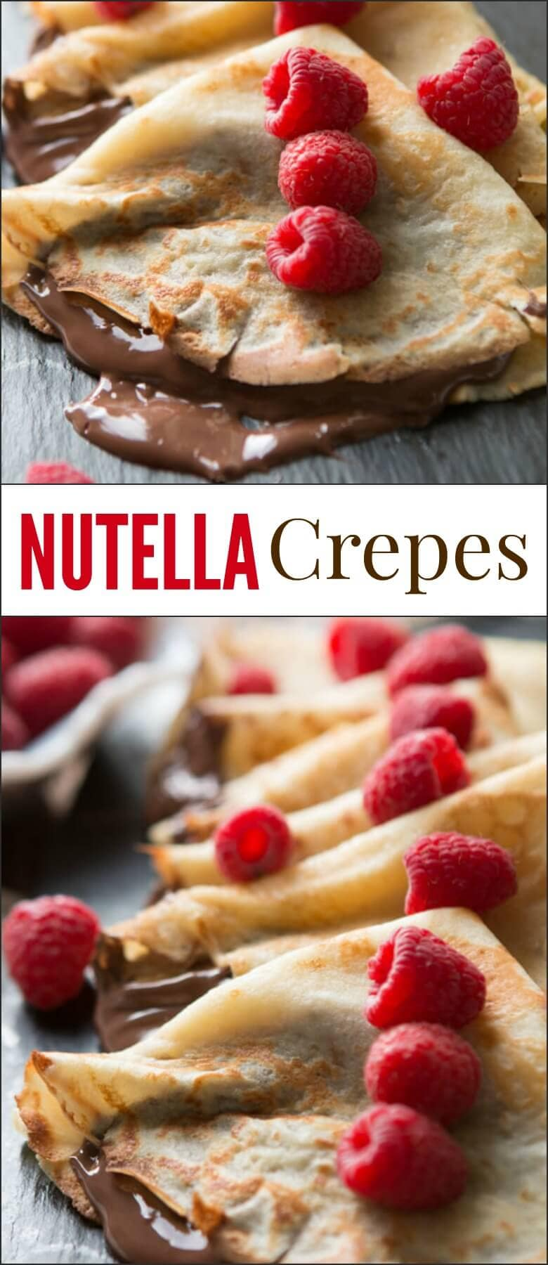 We love crepes at our house, especially Nutella Crepes. Or at least Cade and the girls do. I eat mine with just a little sprinkle of sugar. I don't know why but I love them that way. ohsweetbasil.com