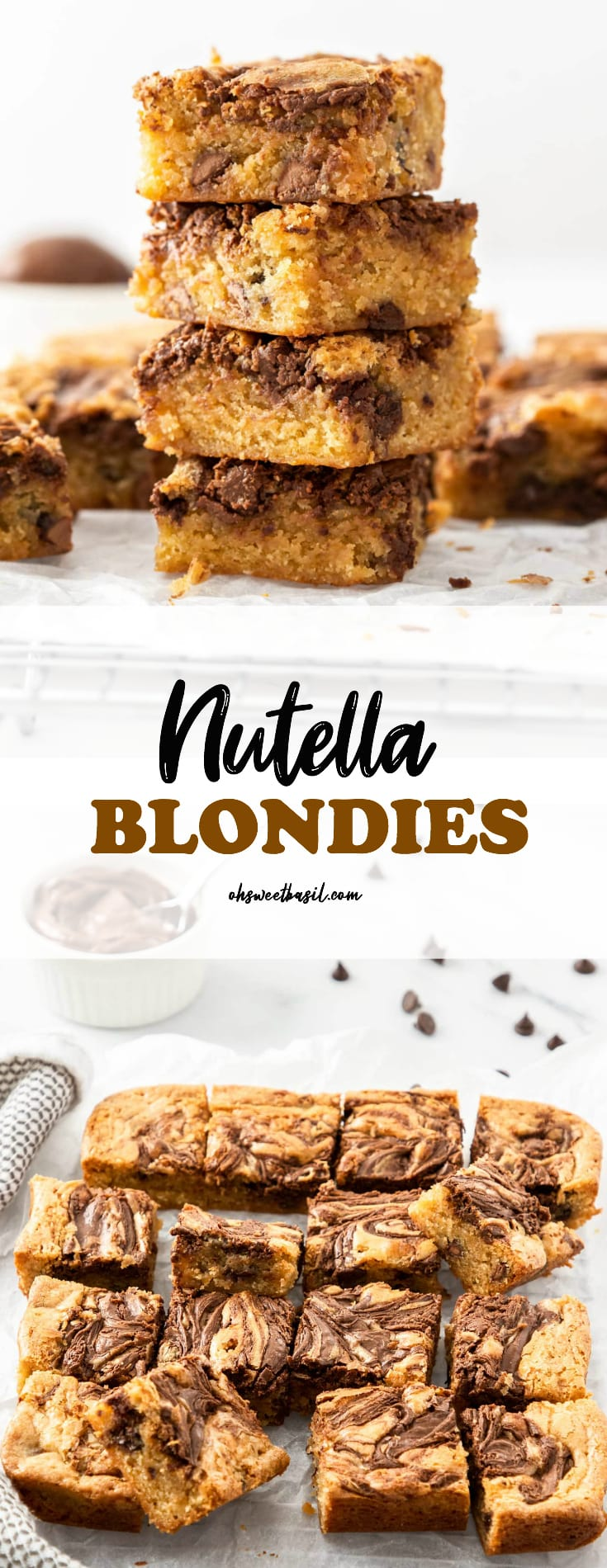 A batch of nutella blondies