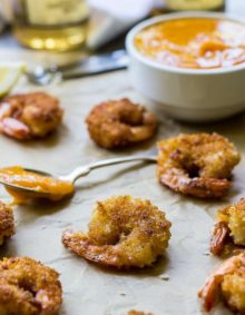 Popcorn Shrimp with Mango Chipotle Sauce