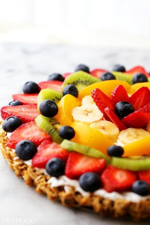 breakfast fruit pizza ohsweetbasil.com