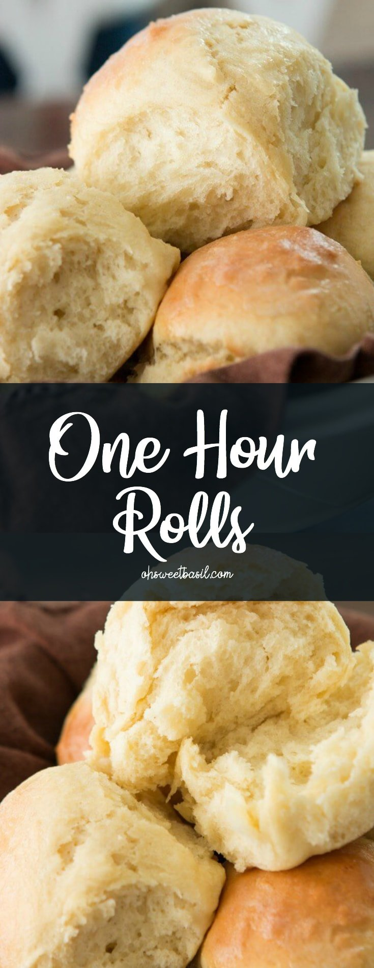 A stack of homemade one hour rolls