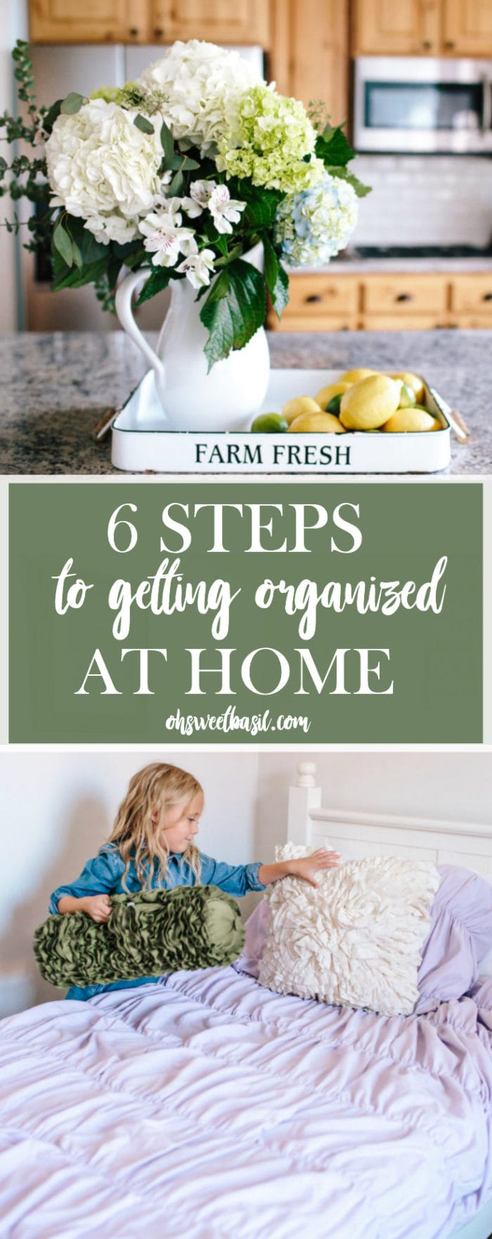 Well, it's here, isn't it? The First 6 Steps to Getting Organized at Home and before you know it you'll be feeling better about yourself, less ill, and happier!