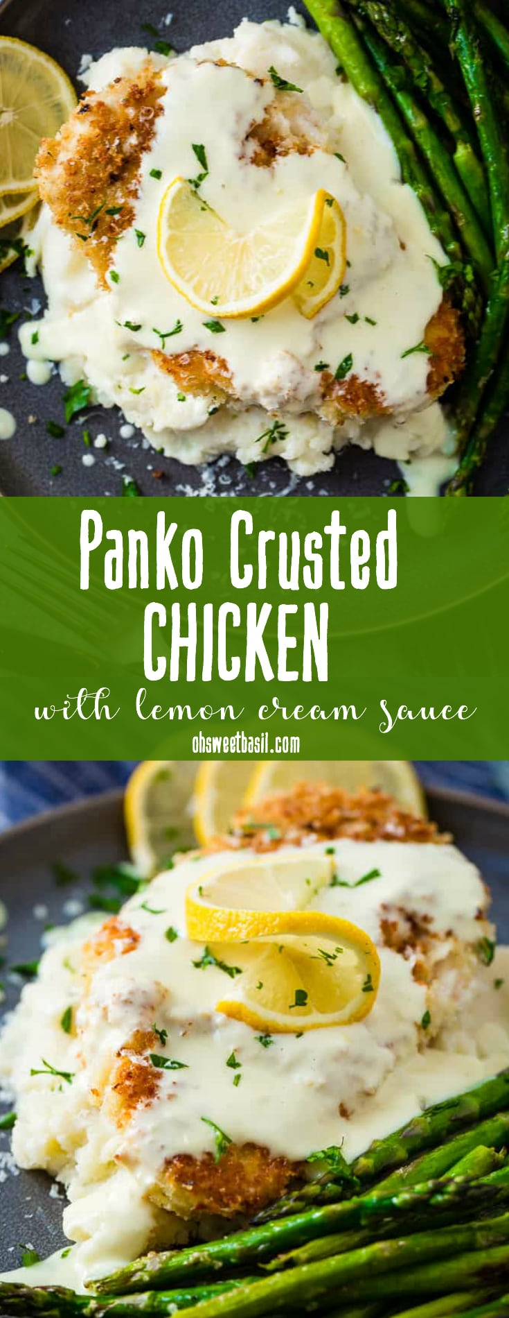 Panko Crusted Chicken with a Lemon Cream Sauce