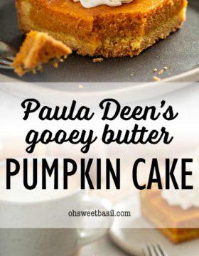 A piece of Paula Deen's pumpkin gooey butter cake