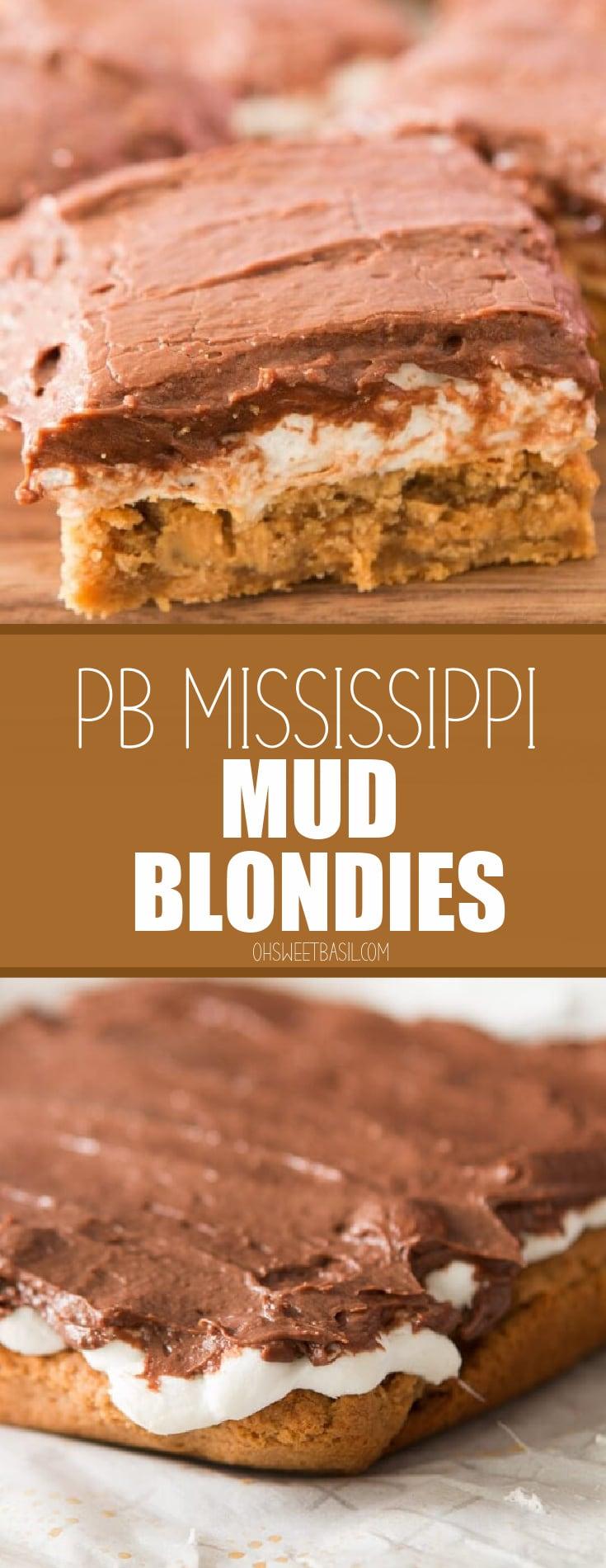 Peanut Butter Mississippi Mud Brownies