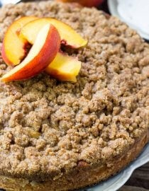 peach coffee cake with streusel topping oh sweet basil