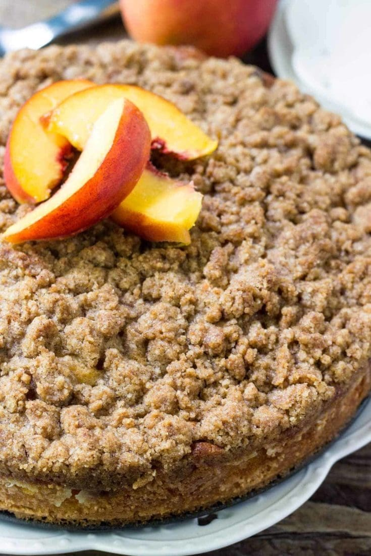 Peach Coffee Cake with Streusel Topping