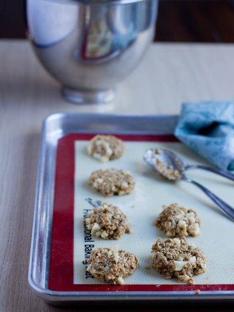 Peanut Butter Apple Breakfast Cookies