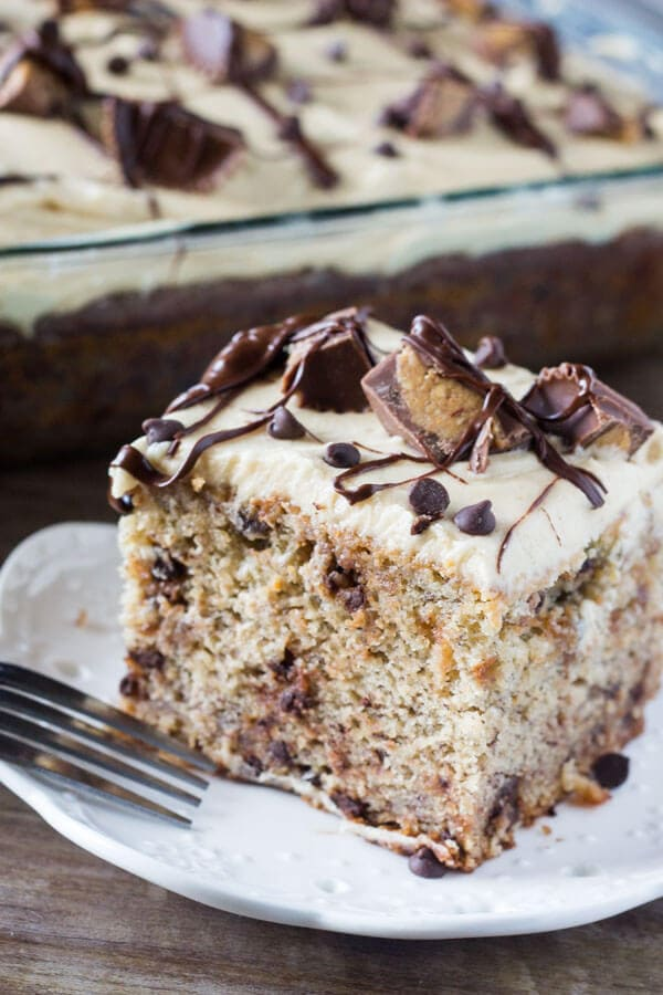 Peanut Butter Layer Cake With Chocolate Frosting