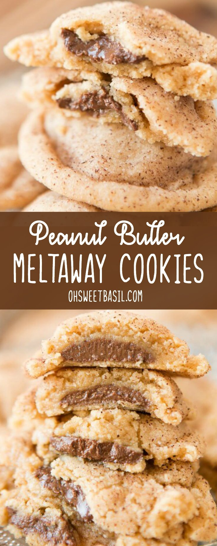 These are the best peanut butter cookies I've ever had. Peanut Butter Meltaway Cookies are peanut butter cookies, stuffed with chocolate!