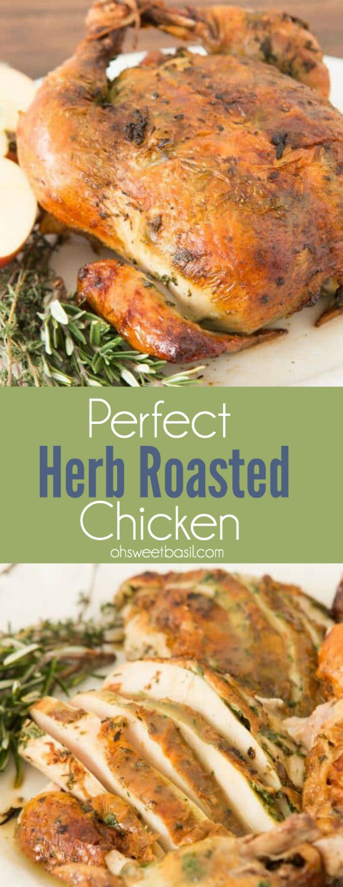 Slices of our favorite Roasted Chicken Breast with herbs