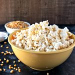 Salt & Vinegar Popcorn - Fresh, homemade popcorn is tossed in sea salt and powdered vinegar to make for a healthy alternative to your favorite potato chip.