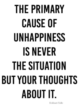 the primary cause of unhappiness