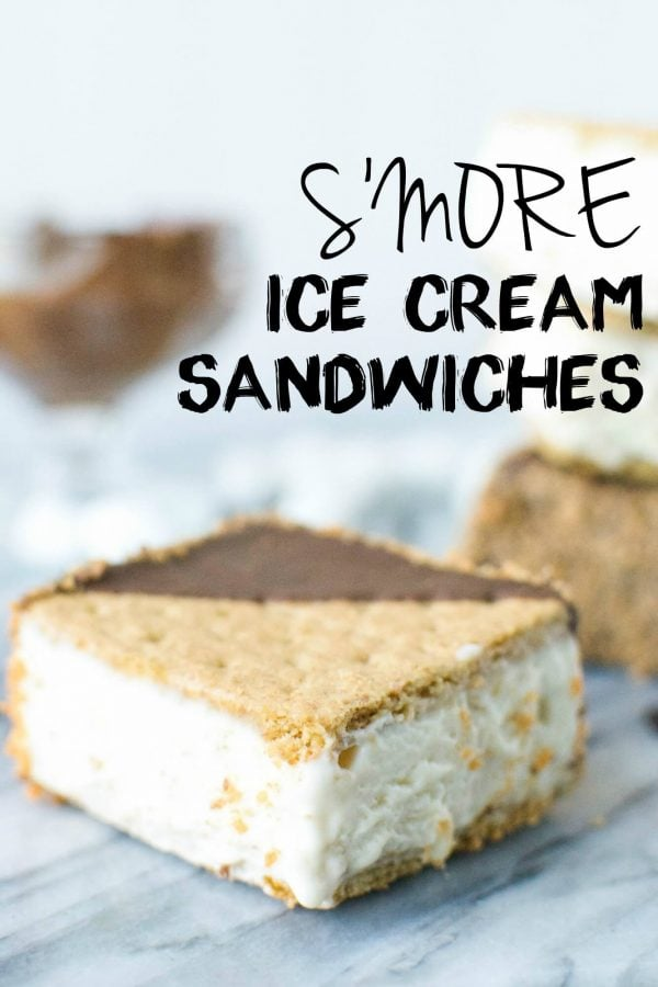 Simple S'more Ice Cream Sandwiches! abajillianrecipes.com