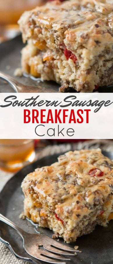 Savory breakfasts tend to always be the same thing, but we've started making this Southern sausage breakfast cake with maple butter sauce and it's delicious!