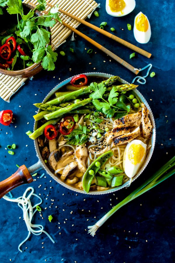 This quick and easy hot and sour soup with spring vegetables is loaded with flavor! It's even better than a restaurant but so easy!! ohsweetbasil.com