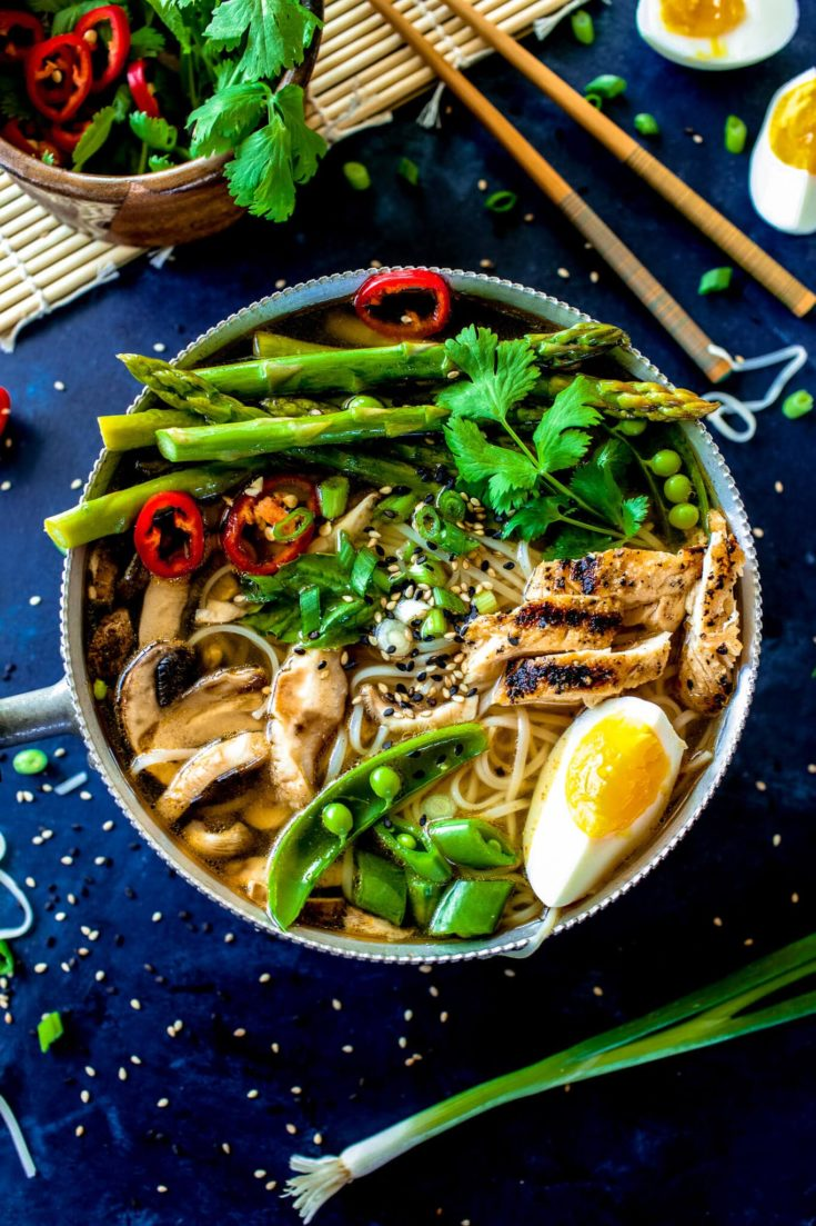 Hot and Sour Soup with Spring Vegetables