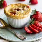 strawberry rhubarb pot pie ohsweetbasil.com