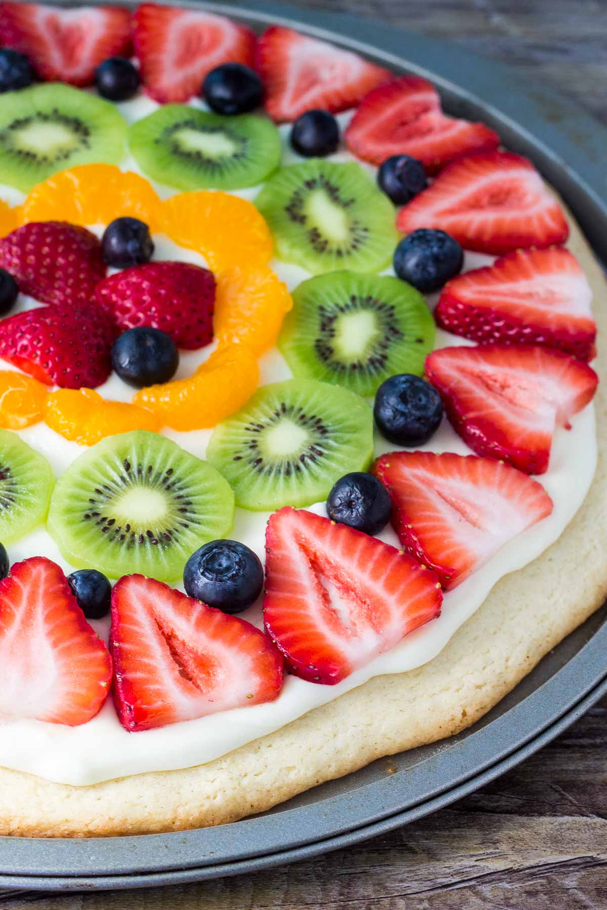 397a8402caf Sugar Cookie Fruit Pizza - Oh Sweet Basil