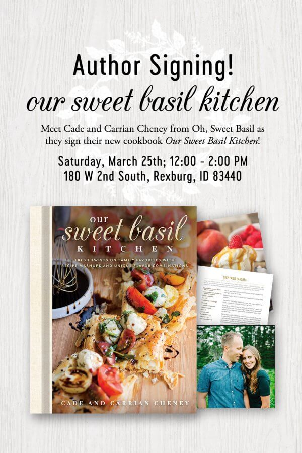 Meet Cade and Carrian from Oh Sweet Basil throughout March and April plus more information on how you can arrange a speaking engagement for them to come to.
